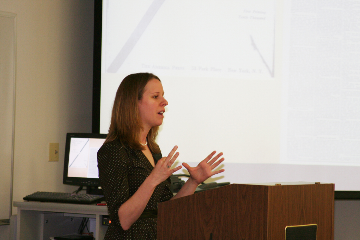 Christina Giunta presents at the 2008 History Symposium