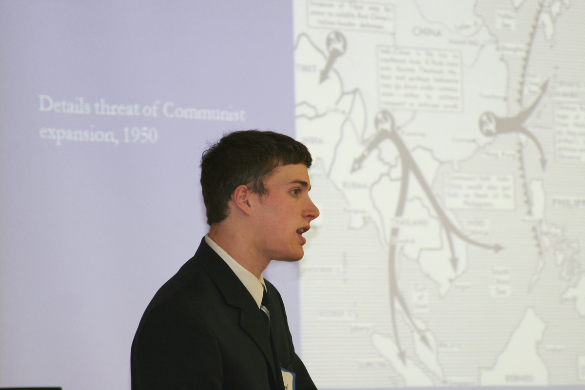 Sam Nothnagel presents at the 2008 History Symposium