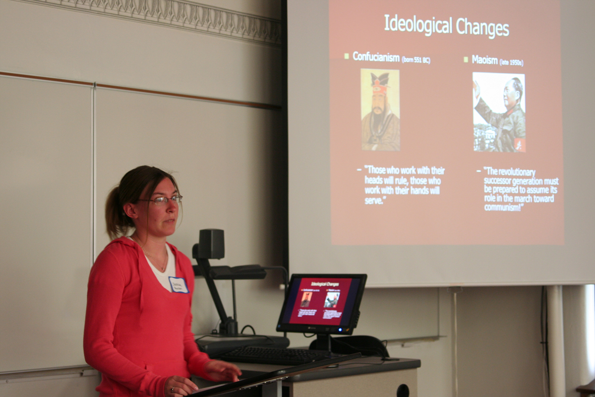 Jessica Paulsen presents at the 2009 History Symposium
