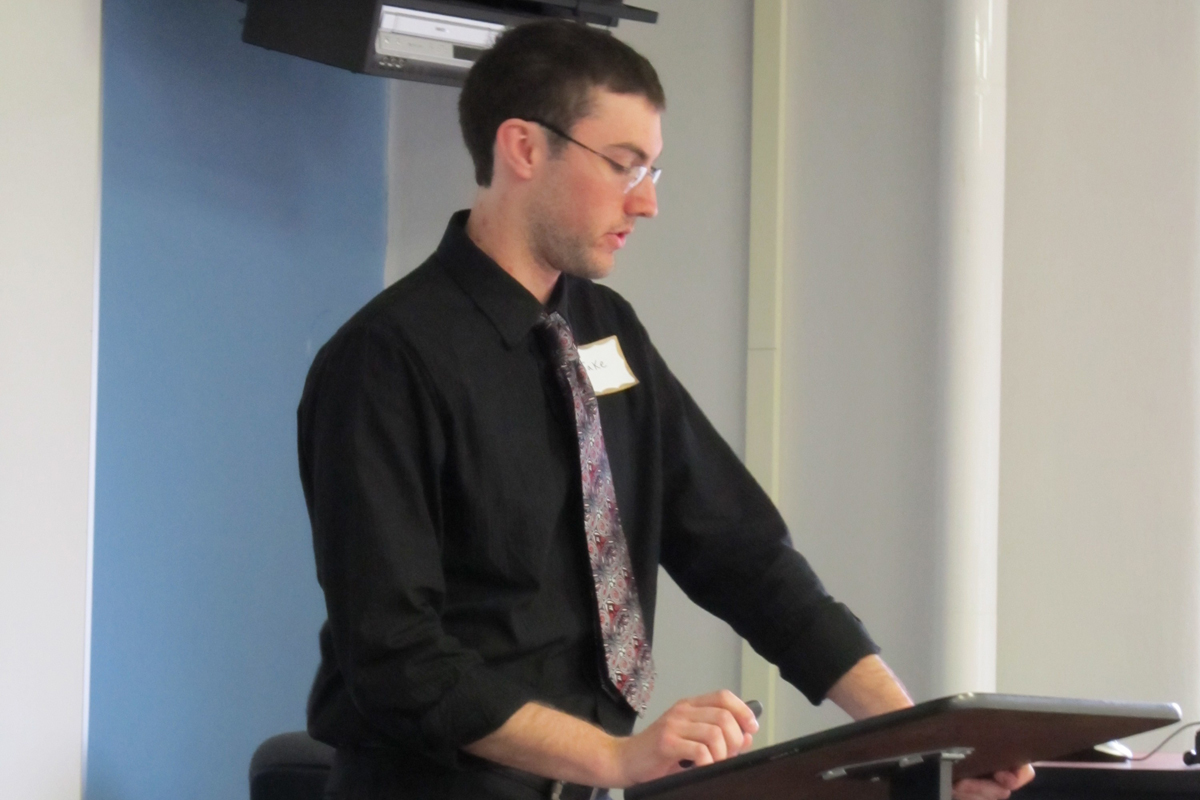 Jacob Beckel presents at the 2011 History Symposium