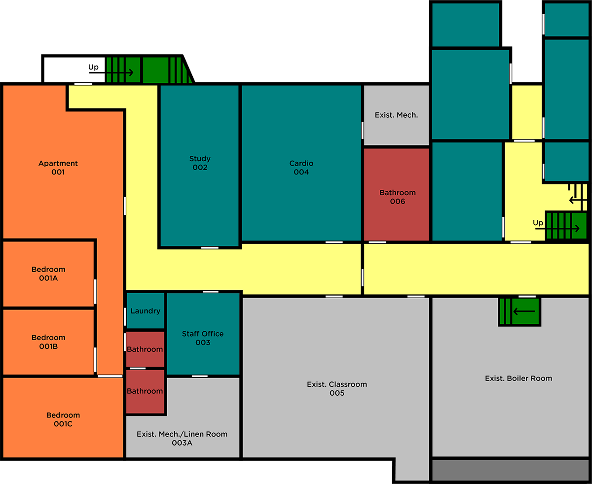 Saint Yon's basement floor plan
