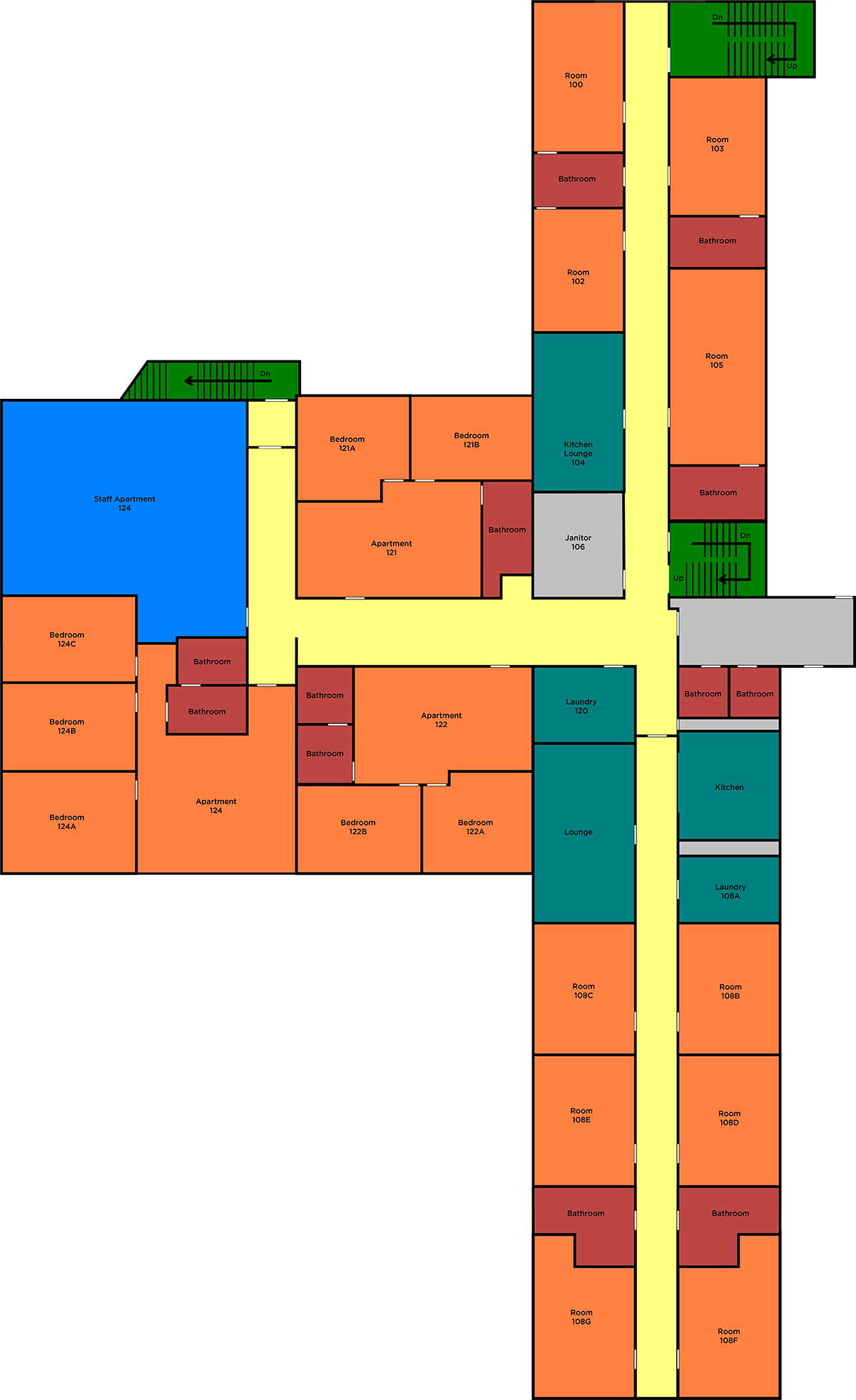 Saint Yon's First Floor layout