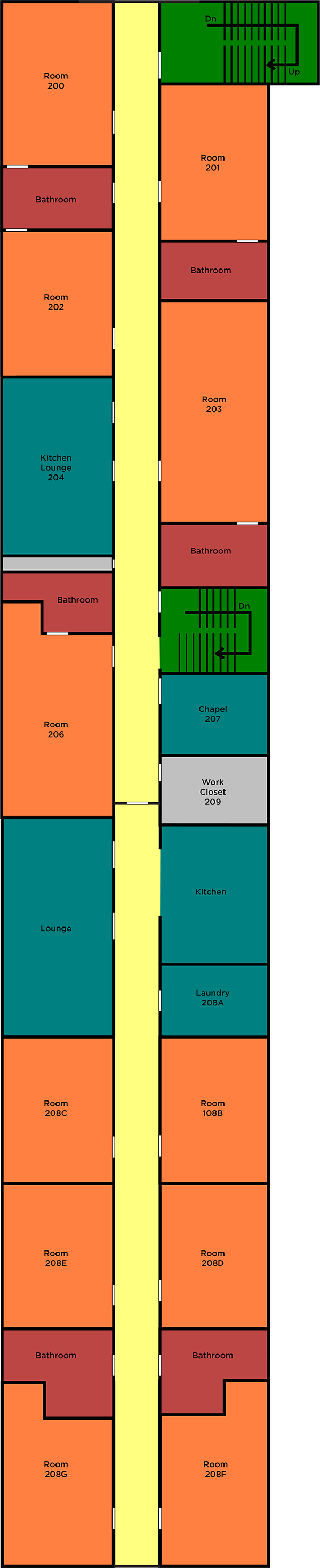 Saint Yons Second Floor Layout