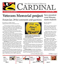 Cardinal Newspaper - January 25, 2008