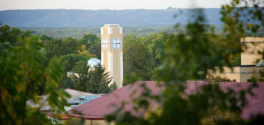 Overlooking Winona campus