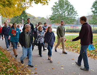 Prospective students on group tour