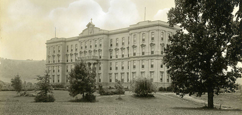 Historical photo of hall