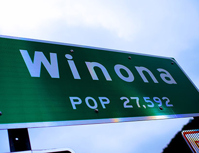 Winona street sign
