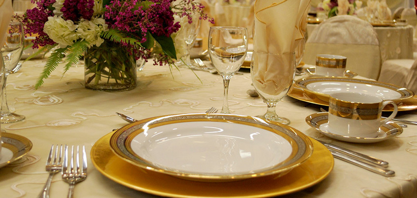 Event dinner place setting