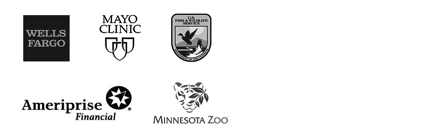 Wells Fargo, Mayo Clinic, US Fish and Wildlife, Ameriprise Financial and Minnesota Zoo