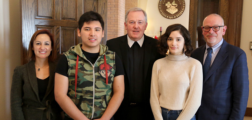 FGI Students with Mexican Consulate and Saint Mary's President